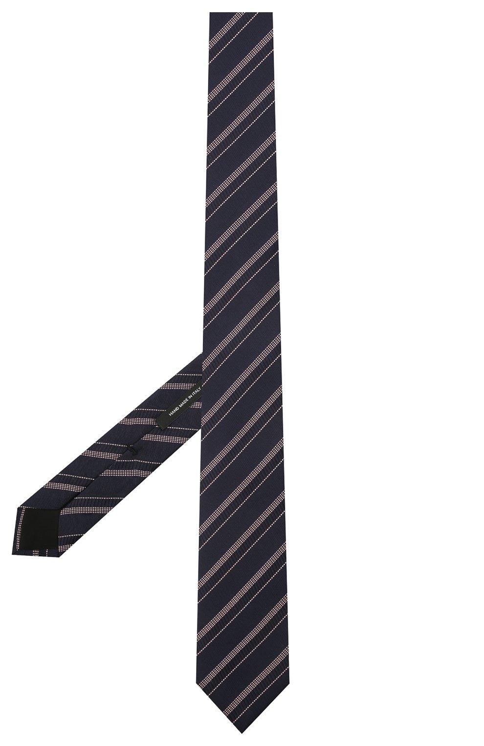 Мужской шелковый галстук BOSS темно-синего цвета, арт. 50451880 | Фото 2