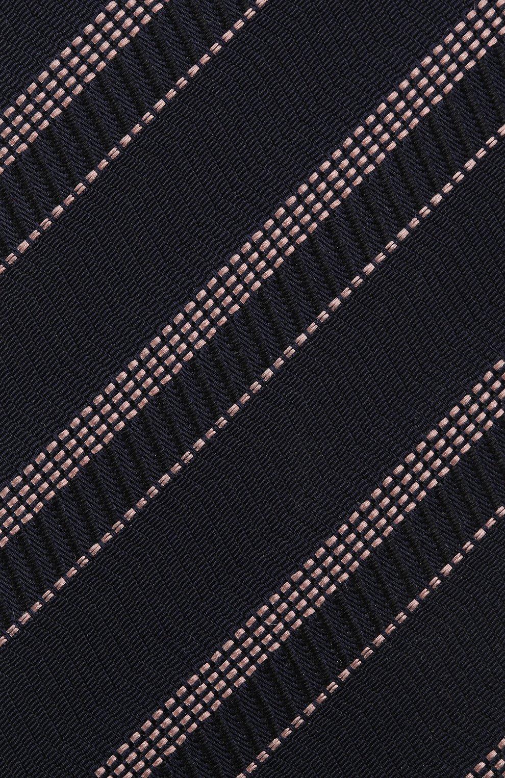 Мужской шелковый галстук BOSS темно-синего цвета, арт. 50451880 | Фото 3