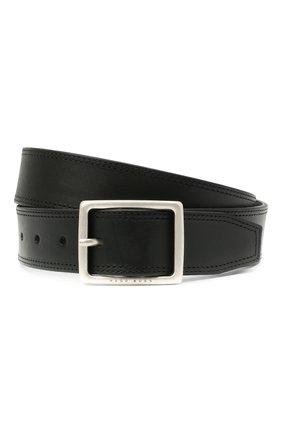 Мужской кожаный ремень BOSS черного цвета, арт. 50447173 | Фото 1