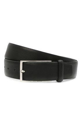 Мужской кожаный ремень BOSS черного цвета, арт. 50447129 | Фото 1