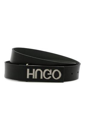 Мужской кожаный ремень HUGO черного цвета, арт. 50441446 | Фото 1