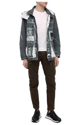 Мужские кожаные кроссовки HUGO черного цвета, арт. 50445699 | Фото 2