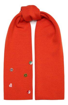 Женский шерстяной шарф HIAYNDERFYT розового цвета, арт. 1425.9 | Фото 1