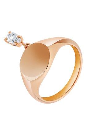 Женское кольцо MOONKA STUDIO золотого цвета, арт. nc-sig-tpz-g | Фото 1