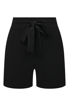 Женские хлопковые шорты I.D. SARRIERI черного цвета, арт. A5585   Фото 1