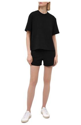 Женские хлопковые шорты I.D. SARRIERI черного цвета, арт. A5585   Фото 2