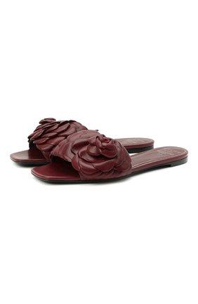 Женские кожаные шлепанцы valentino garavani 03 rose edition VALENTINO бордового цвета, арт. VW2S0AR3/HLK | Фото 1