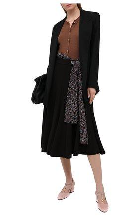 Женская юбка CHLOÉ черного цвета, арт. CHC21SJU29137 | Фото 2