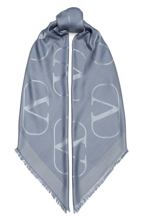 Женская шаль  VALENTINO голубого цвета, арт. VW2EB104/AJB   Фото 1