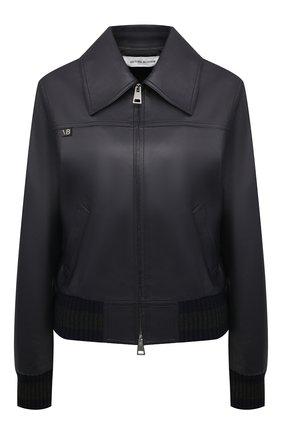 Женская кожаная куртка VICTORIA BECKHAM темно-синего цвета, арт. 1121LJK002339A | Фото 1