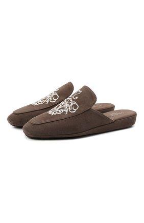Женского туфли комнатные HOMERS AT HOME светло-коричневого цвета, арт. 18482A/ANTE | Фото 1