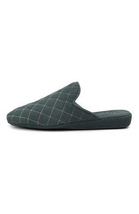 Женского домашние туфли из замши HOMERS AT HOME бирюзового цвета, арт. 19582R/ANTE | Фото 3 (Каблук высота: Низкий; Материал внутренний: Натуральная кожа; Женское Кросс-КТ: тапочки-домашняя обувь; Подошва: Плоская; Материал внешний: Замша)