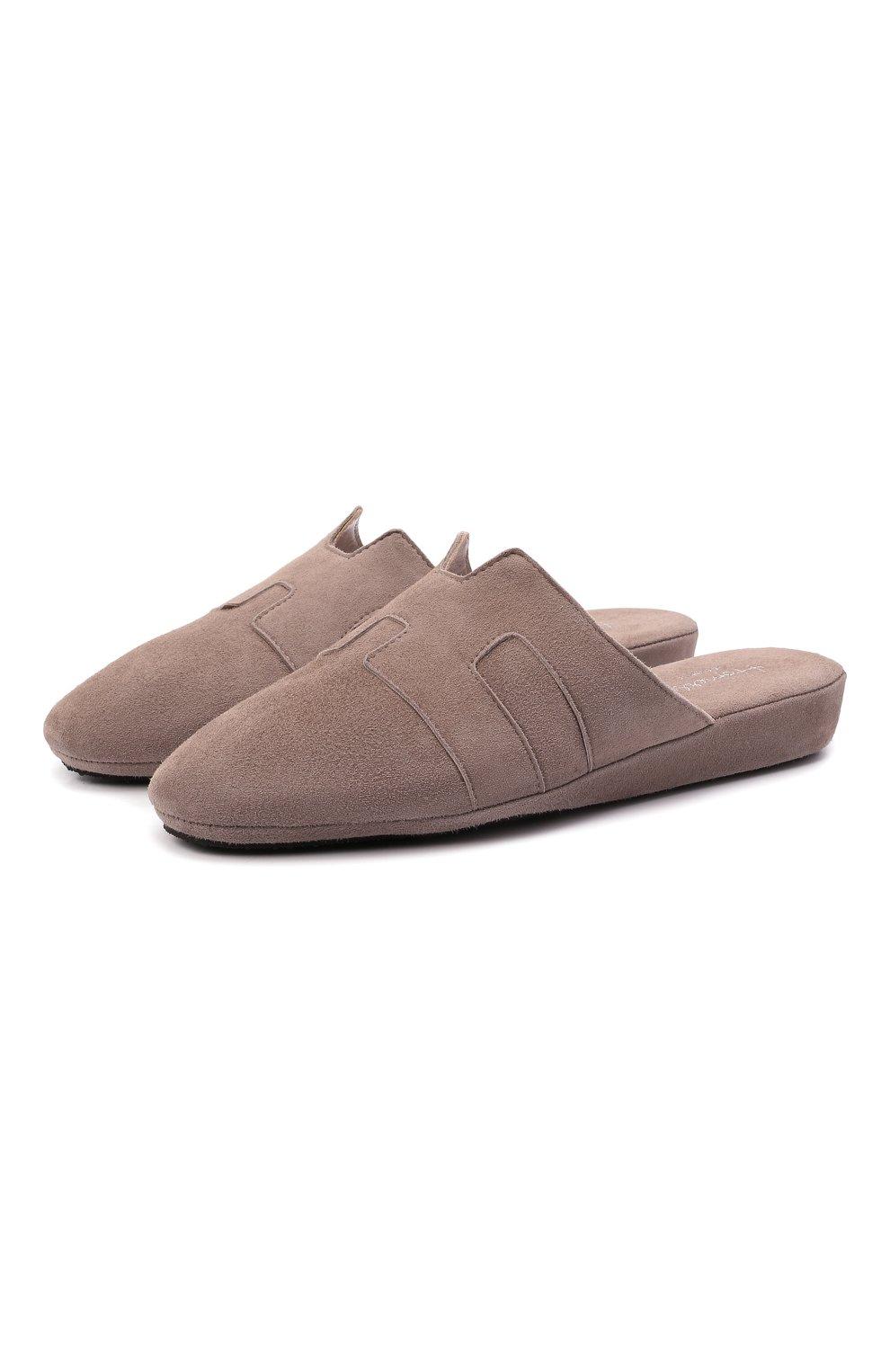 Женского туфли комнатные HOMERS AT HOME светло-коричневого цвета, арт. 20008R/ANTE   Фото 1