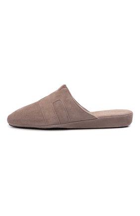 Женского туфли комнатные HOMERS AT HOME светло-коричневого цвета, арт. 20008R/ANTE   Фото 3