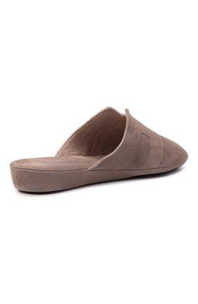 Женского туфли комнатные HOMERS AT HOME светло-коричневого цвета, арт. 20008R/ANTE   Фото 4