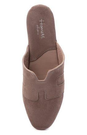 Женского туфли комнатные HOMERS AT HOME светло-коричневого цвета, арт. 20008R/ANTE   Фото 5