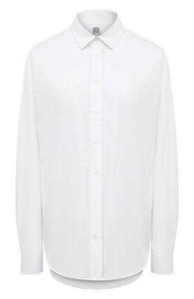 Женская хлопковая рубашка TOTÊME белого цвета, арт. 211-708-710   Фото 1