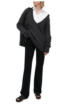Женская хлопковая рубашка TOTÊME белого цвета, арт. 211-708-710 | Фото 2