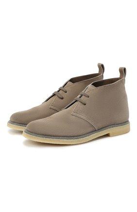 Женские замшевые ботинки BRUNELLO CUCINELLI коричневого цвета, арт. MZSFG1377 | Фото 1