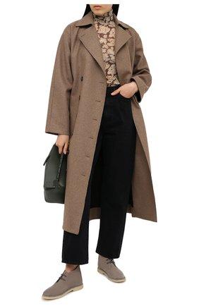 Женские замшевые ботинки BRUNELLO CUCINELLI коричневого цвета, арт. MZSFG1377 | Фото 2