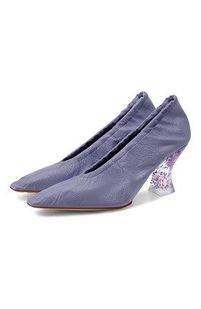 Женские кожаные туфли BOTTEGA VENETA сиреневого цвета, арт. 651356/VBP10 | Фото 1