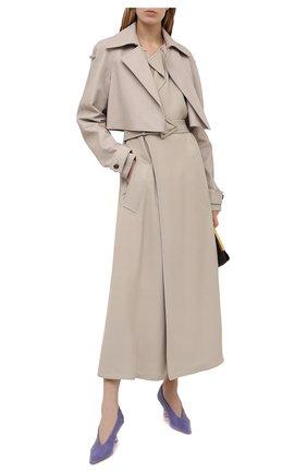 Женские кожаные туфли BOTTEGA VENETA сиреневого цвета, арт. 651356/VBP10 | Фото 2