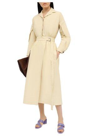 Женские кожаные мюли BOTTEGA VENETA сиреневого цвета, арт. 651376/VBSL0 | Фото 2