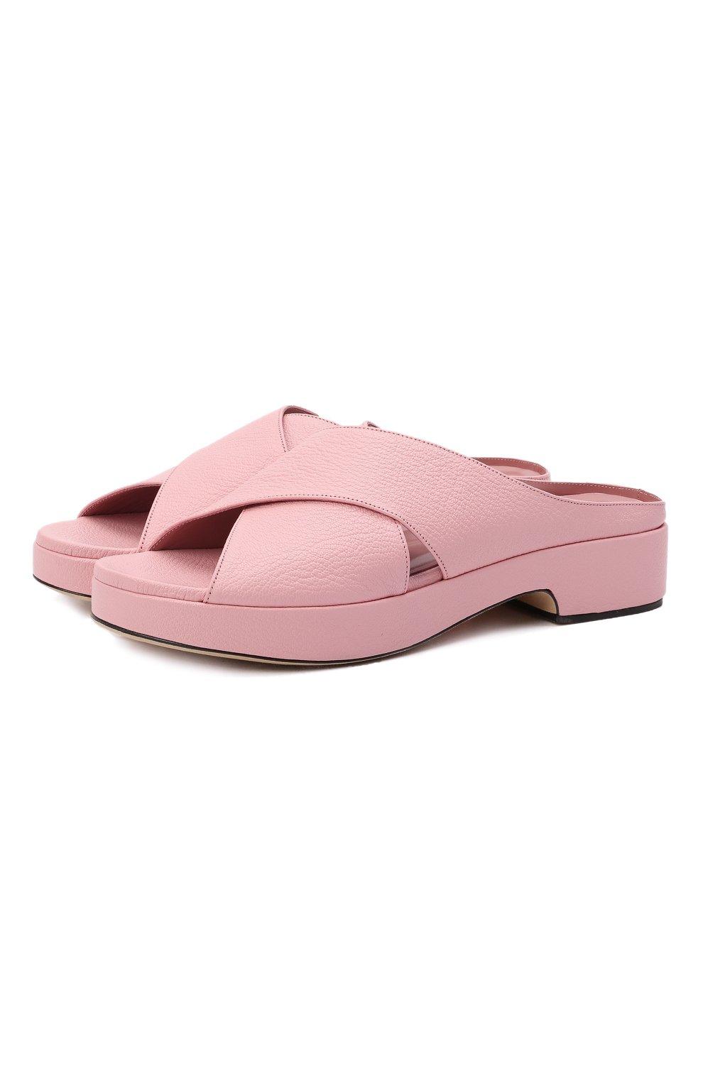 Женские кожаные сабо iggy BY FAR розового цвета, арт. 21CRIGSP0GRL | Фото 1 (Подошва: Платформа; Каблук высота: Низкий; Материал внутренний: Натуральная кожа)