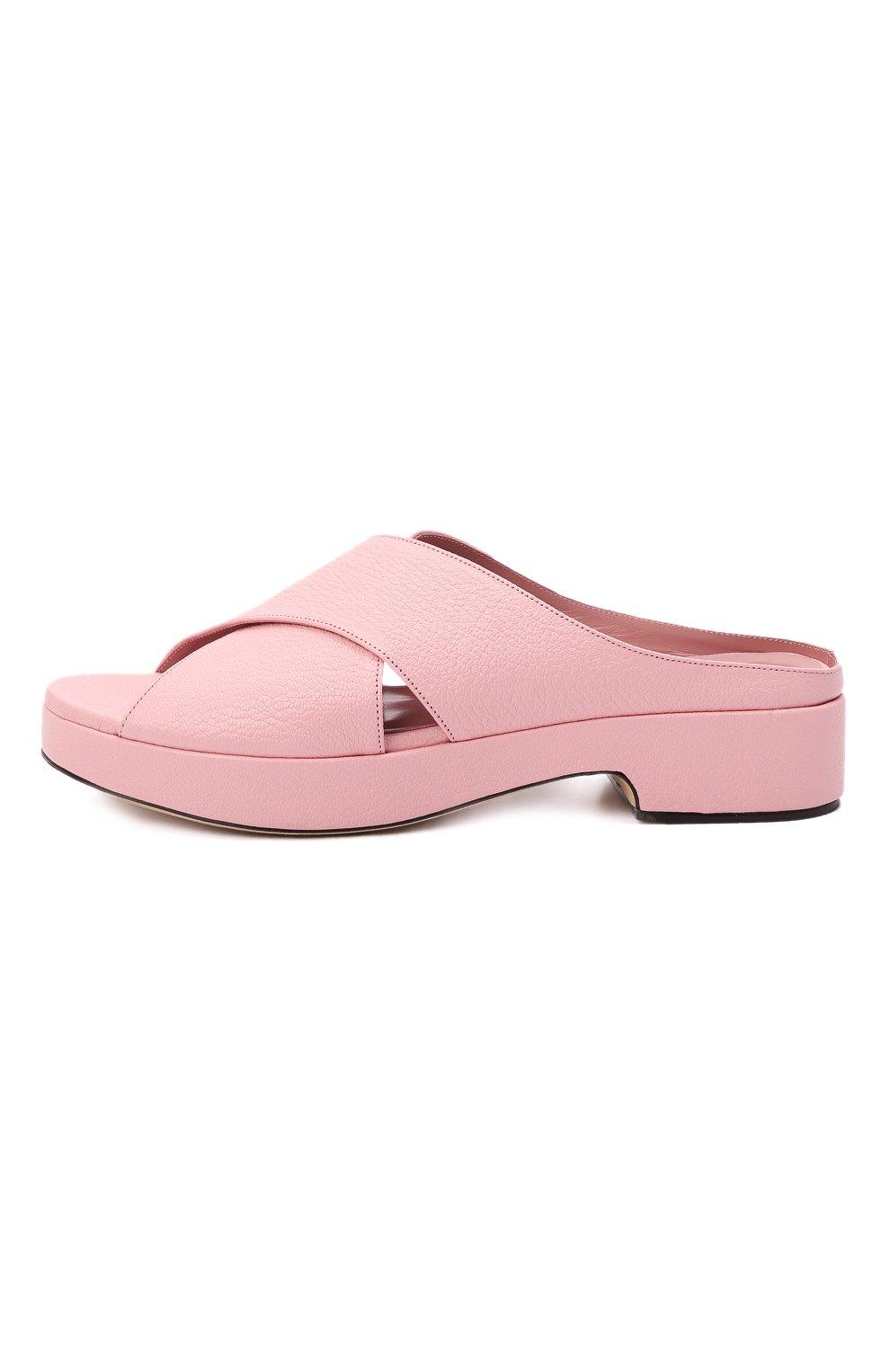 Женские кожаные сабо iggy BY FAR розового цвета, арт. 21CRIGSP0GRL | Фото 3 (Подошва: Платформа; Каблук высота: Низкий; Материал внутренний: Натуральная кожа)