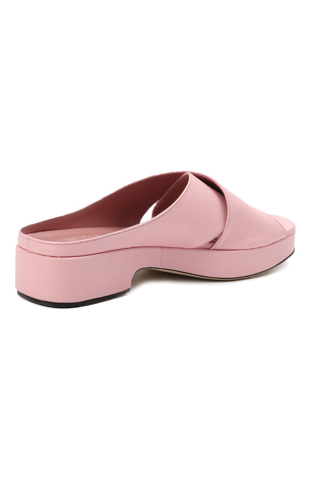 Женские кожаные сабо iggy BY FAR розового цвета, арт. 21CRIGSP0GRL | Фото 4 (Подошва: Платформа; Каблук высота: Низкий; Материал внутренний: Натуральная кожа)