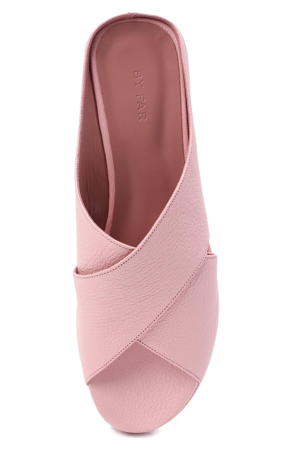 Женские кожаные сабо iggy BY FAR розового цвета, арт. 21CRIGSP0GRL | Фото 5 (Подошва: Платформа; Каблук высота: Низкий; Материал внутренний: Натуральная кожа)