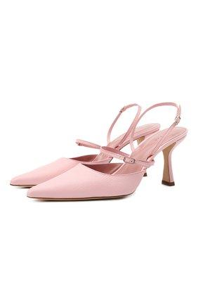 Женские кожаные туфли tiffany BY FAR розового цвета, арт. 21CRTIFPP0GRL | Фото 1