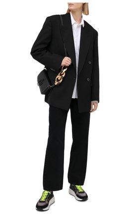 Женские комбинированные кроссовки running GOLDEN GOOSE DELUXE BRAND черного цвета, арт. GWF00126.F000363   Фото 2