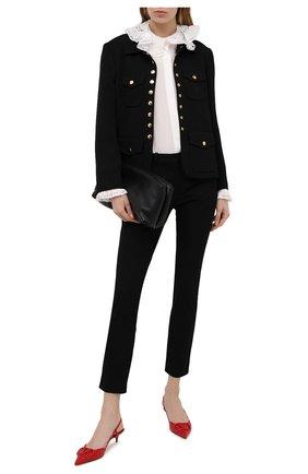 Женские кожаные туфли valentino garavani vlogo VALENTINO красного цвета, арт. VW2S0Q70/MZF | Фото 2
