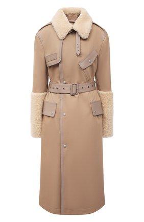 Женское пальто MR&MRS ITALY коричневого цвета, арт. 211XTC0107 | Фото 1