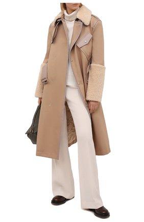 Женское пальто MR&MRS ITALY коричневого цвета, арт. 211XTC0107 | Фото 2
