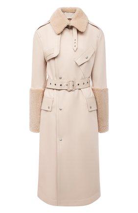 Женское пальто MR&MRS ITALY бежевого цвета, арт. 211XTC0107   Фото 1