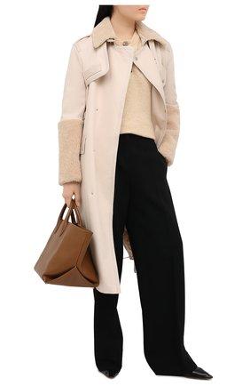 Женское пальто MR&MRS ITALY бежевого цвета, арт. 211XTC0107   Фото 2