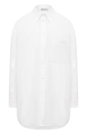 Женская хлопковая рубашка MONCLER белого цвета, арт. G1-093-2F712-10-549D1 | Фото 1
