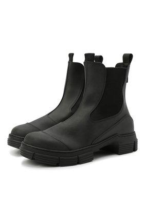 Женские ботинки GANNI черного цвета, арт. S1526 | Фото 1