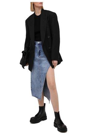 Женская джинсовая юбка KSUBI голубого цвета, арт. 5000005244   Фото 2