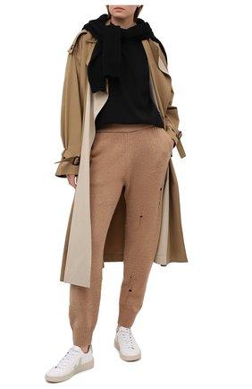 Женские шерстяные джоггеры HELMUT LANG коричневого цвета, арт. K10HW712 | Фото 2