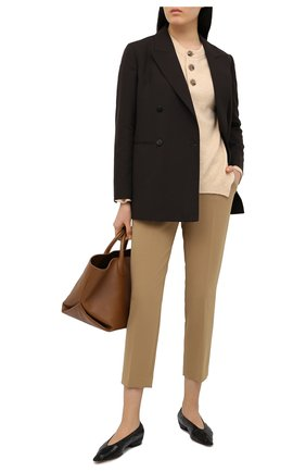 Женские брюки THEORY бежевого цвета, арт. J0709220 | Фото 2