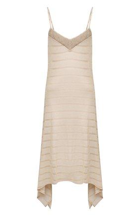 Женское платье из вискозы RITRATTI MILANO золотого цвета, арт. 72009 | Фото 1