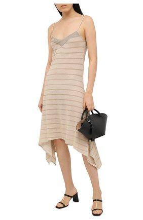 Женское платье из вискозы RITRATTI MILANO золотого цвета, арт. 72009 | Фото 2