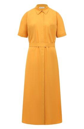 Женское хлопковое платье LORO PIANA желтого цвета, арт. FAL6277 | Фото 1