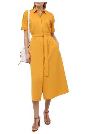Женское хлопковое платье LORO PIANA желтого цвета, арт. FAL6277 | Фото 2