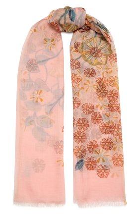 Женская кашемировая шаль LORO PIANA розового цвета, арт. FAL5507   Фото 1