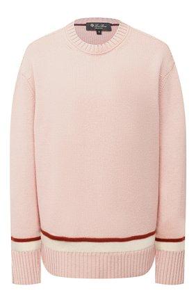 Женский кашемировый свитер LORO PIANA розового цвета, арт. FAL5221   Фото 1