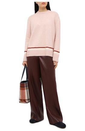 Женский кашемировый свитер LORO PIANA розового цвета, арт. FAL5221   Фото 2